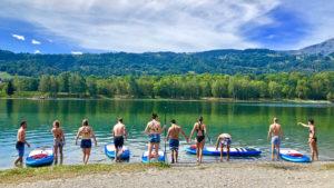 S-CAMP Mise à l'eau paddle lac Passy