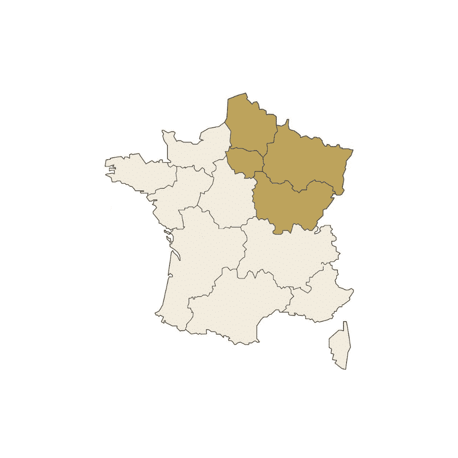 Carte France Nord Est