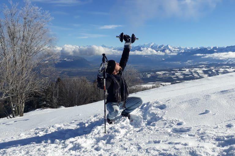 Séjour-cross-training-hiver-Alexis-dumbell neige
