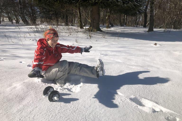 Alice CrossFit pistol dans la neige