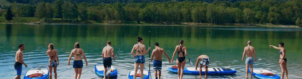 Accueil-Séjours sportifs et bien-être-paddle-mise à l'eau