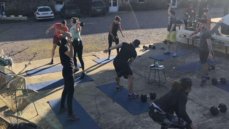 Seance de CrossFit à l'exterieur Normandie