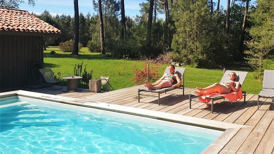 Landes piscine séjour cross training