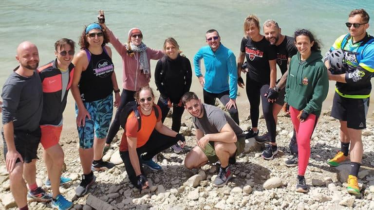 Groupe CrossFit dans les gorges du Verdon