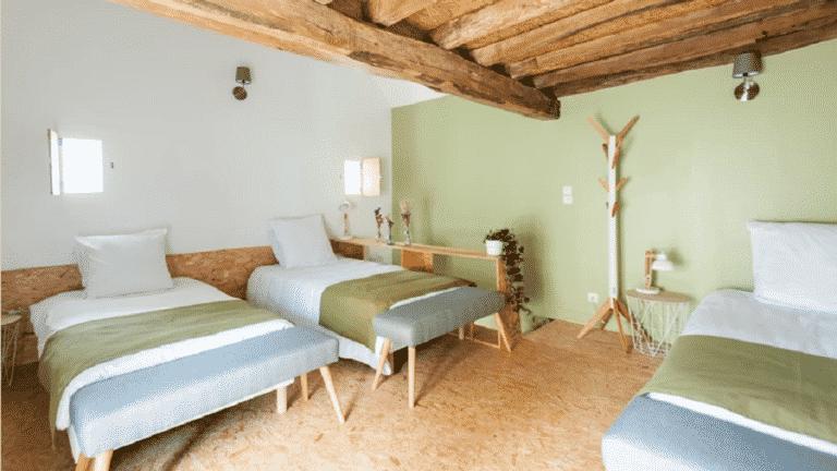 chambre dans un ferme rénovée