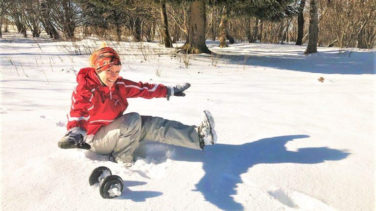 CrossFit pistol squat dans la neige