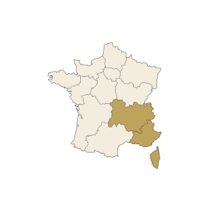 Carte France Sud Est