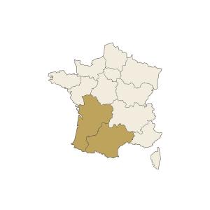 Carte France Sud Ouest